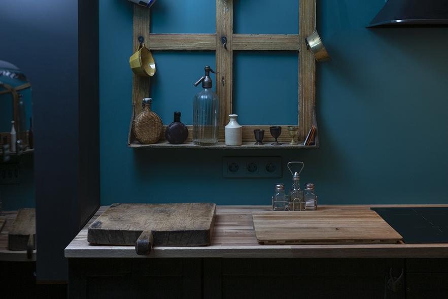 plan de travail dans une cuisine